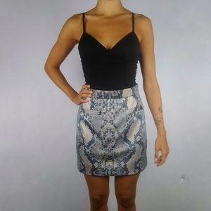 NWT River Island snakeskin print a-line mini skirt